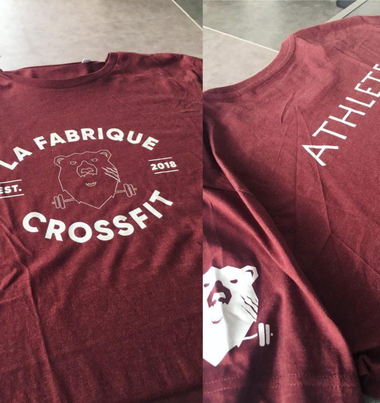 Achetez votre t-shirt La Fabrique CrossFit